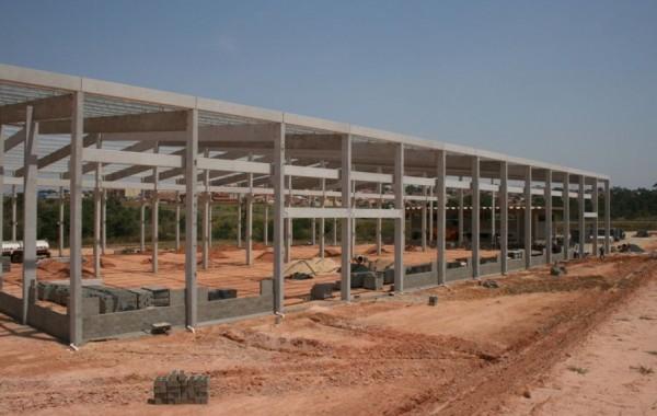 Construção de barracão industrial