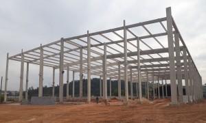 Construção de galpão industrial