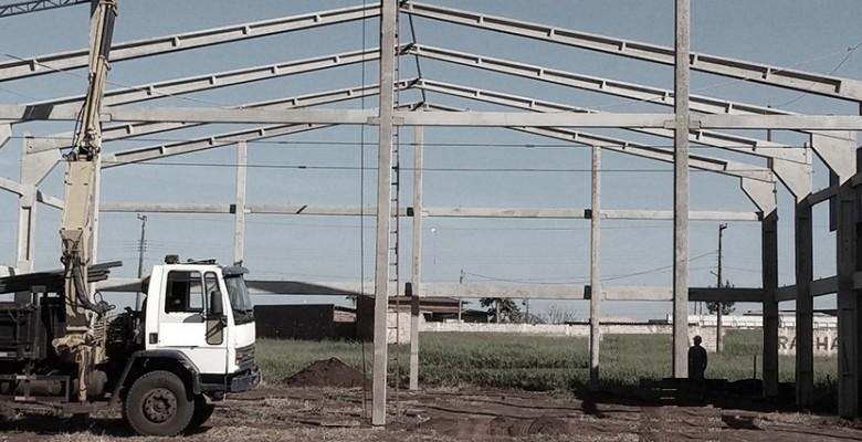 Construção de galpão em Santo André
