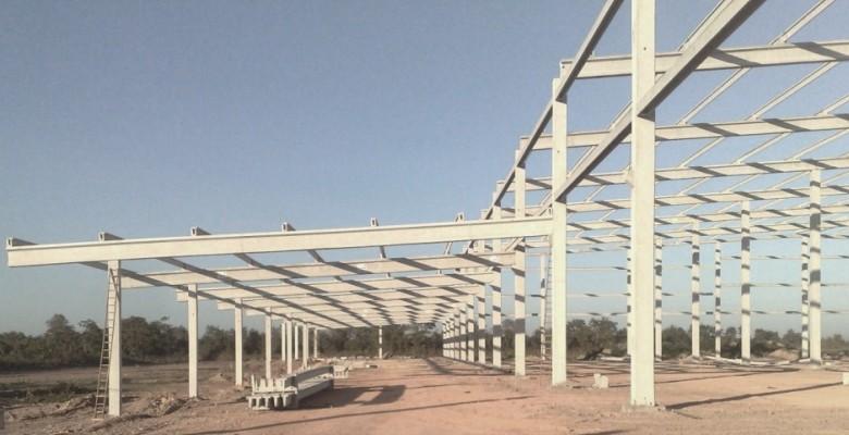 Construção de galpão em Santos