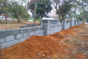 Muro em alvenaria