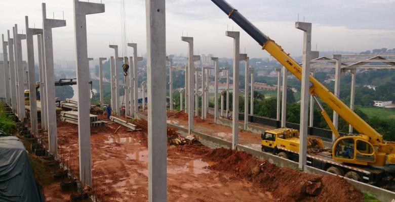 Construção de galpão pré-moldado