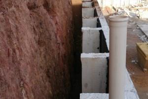 Muro em alvenaria para contenção